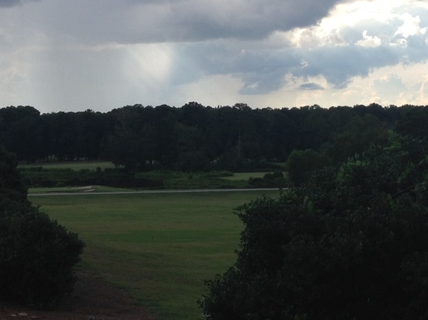 A view of the golf course from our room