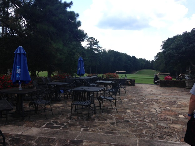 View of the golf course at Champion Grille